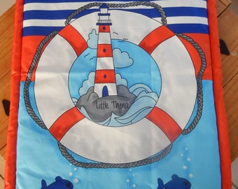"""Quilted cover 60 x 90 cm ,  """"marine theme"""""""