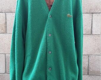 Vintage 1960s IZOD Lacoste Cardigan Sweater