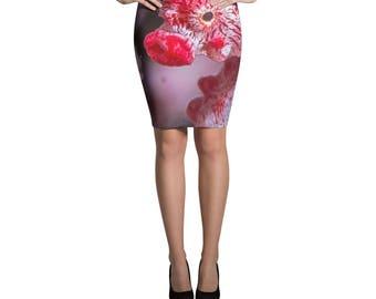 Pygmy Seahorse Pencil Skirt