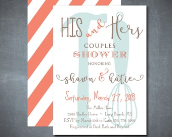 His and Hers Couples Shower Invitation, His and Hers Invitation, Tool and Gadget Shower, Couples Wedding Shower/printable/Digital File