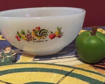 Fire King Chanticlear small cereal bowl Hard to Find Pattern