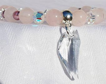 Archangel Chamuel  Rose Quartz Bracelet - Uncondtional Love