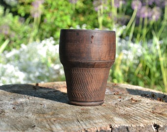Ceramic tumbler, clay cup, pottery glass