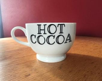 Custom coffee/hot cocoa mugs