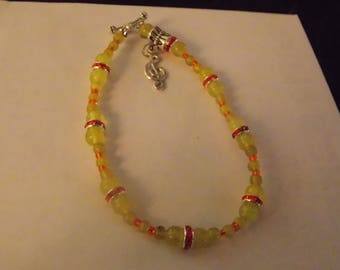Yellow Aventurine  Beaded  Bracelet