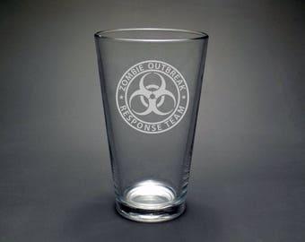Zombie Apocalypse Glass - Zombie Preparation - Apocalypse Preparation - Preppers Glass - Preppers Gift - Apocalypse Gift - Zombie Gift