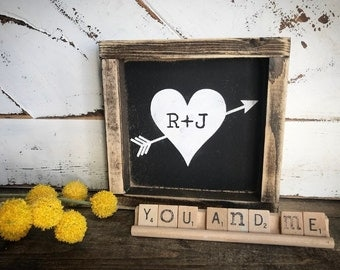 Love - Valentine's Day - anniversary gift - gift - rustic decor - rustic signs - gallery wall - mantle decor - master bedroom