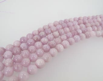 Kunzite round beads 6mm, Gemstone beads, Full strand Natural Loose beads