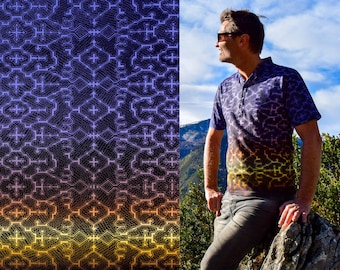 Shipibo t shirt, Colors of the cosmos, Sacred Geometry, Ayahuasca clothes, Psychedelic Clothes, Entheogen clothes, Shamanic cothes