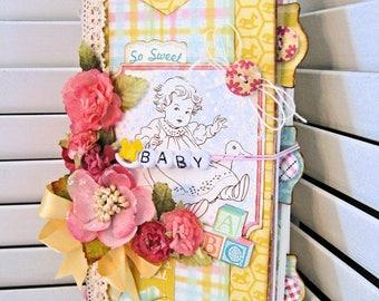 Handmade Baby Book in Midori Travel Style Format