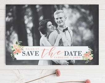 Pretty Pastel Watercolor Floral Wedding Save the Date