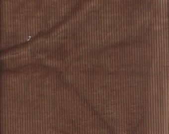 1 1/8 yards of  Brown Corduroy, wide-wale