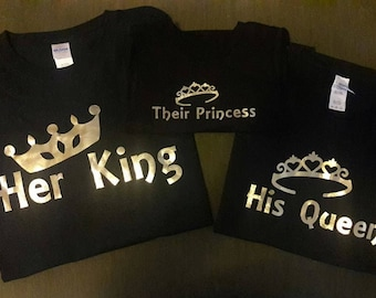 Family Shirts King Queen Prince Princess