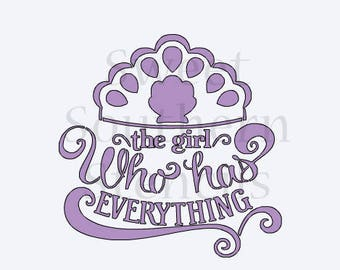 The Girl Who Has Everything Princes Quote Cookie Stencil