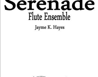 Sheet music Serenade for Flute Ensemble/Trio