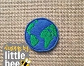 earth feltie project embroidery design 4x4 hoop. Instant Download! bean stitch.