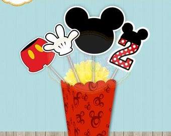 Mickey Centerpiece-Mickey Mouse-oh tuddles-mickey printable-Centerpices Birthday-Mickey Party Decor-Mickey Party Supplies-Mickey Mouse