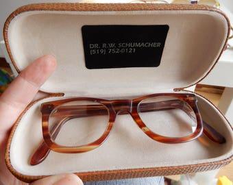 Vintage spectacles, prescription glasses frames 1950s tortoise shell frames vintage eyewear, tortoise reading glasses