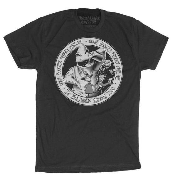 Nightmare Before Christmas Halloween Shirt - Oogie Boogie Shirt - Mens Craft Beer Shirt Hand Screen Printed on a Mens T Shirt