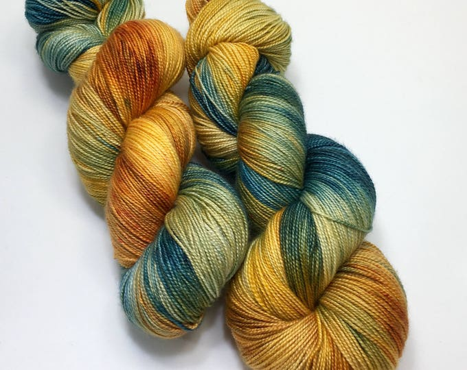 Wheat Fields - Hand dyed on Sassy Silk 150 Sock