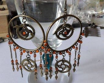 Big earrings steampunk #1