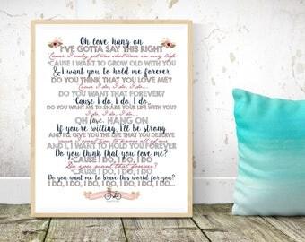 Wedding song lyrics etsy wedding song lyrics first dance keepsake bridal shower wedding gift anniversary gift stopboris Gallery