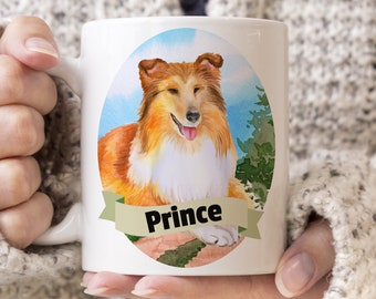 Sheltie Custom Dog Mug - Get your dogs name on a mug - Dog Breed Mug - Great gift for dog owner - Sheltie mug