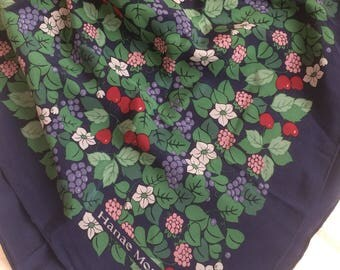 Silk scarf Hanae Mori Vintage.