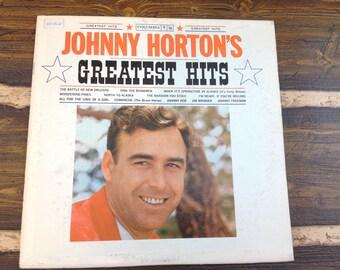 Johnny Horton's Greatest Hits Vintage Vinyl Record LP 1961