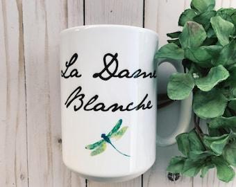 La Dame Blanche or Sassenach - Outlander-inspired Coffee Mug