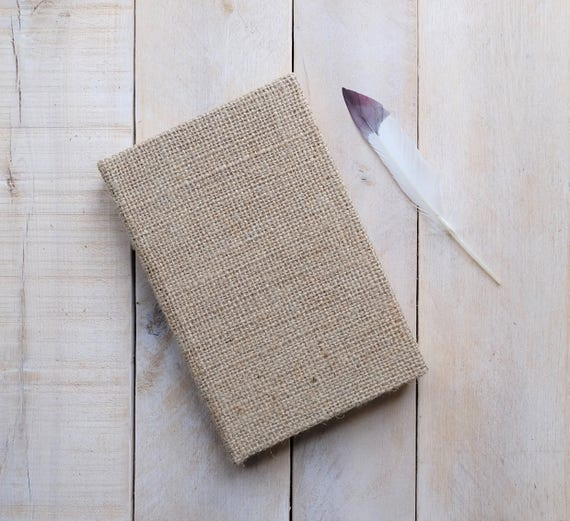 Natural Burlap Lined Journal, Writing Journal, Lined Notebook for Journaling, Blank Diary, Custom, Unique Gift, Note book, Sketchbook