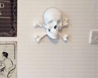 Skull and crossbones, Jolly Roger Aaaargh, Piracy - 3D Printed