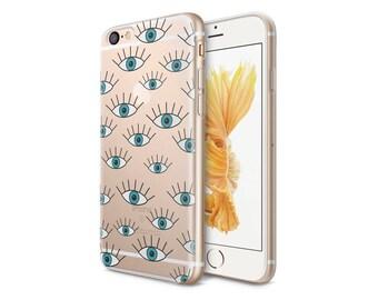 Eyes Boho Style Clear Phone Case - Transparent Case - Clear Case - iPhone 8 - iPhone 7 Plus - iPhone 7 - iPhone X -Eyes - CaseLoco