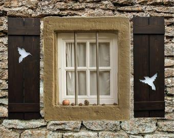 Rustic Farmhouse Decor, Hummingbird Art, Farmhouse Decor, Exterior Shutters,  Window Shutters, Part 93