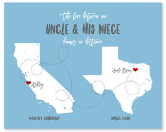 Long Distance Uncle Gift, Personalized Gift for Uncle, Custom Gift for Aunt, Long Distance Aunt Gift, Uncle Nephew Gift, Uncle Niece Gift
