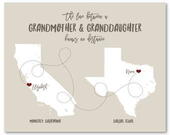 Gifts for Grandparents First Time Grandparents First time Grandma Gifts Personalized Map Christmas Gifts for Grandparents Unique Wall Art