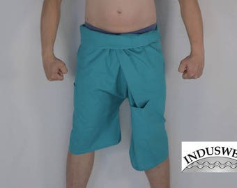 Short Thai Fisherman Pants Wrap Pants turquoise