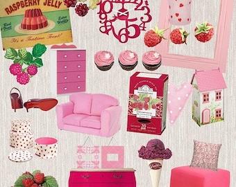 30%OFF Vintage Fruit Prints, Raspberry Fruit, Berries Fruits Clipart, Raspberry Color, Raspberry Pink, Raspberry Furniture Buy 2 Get 1 FREE