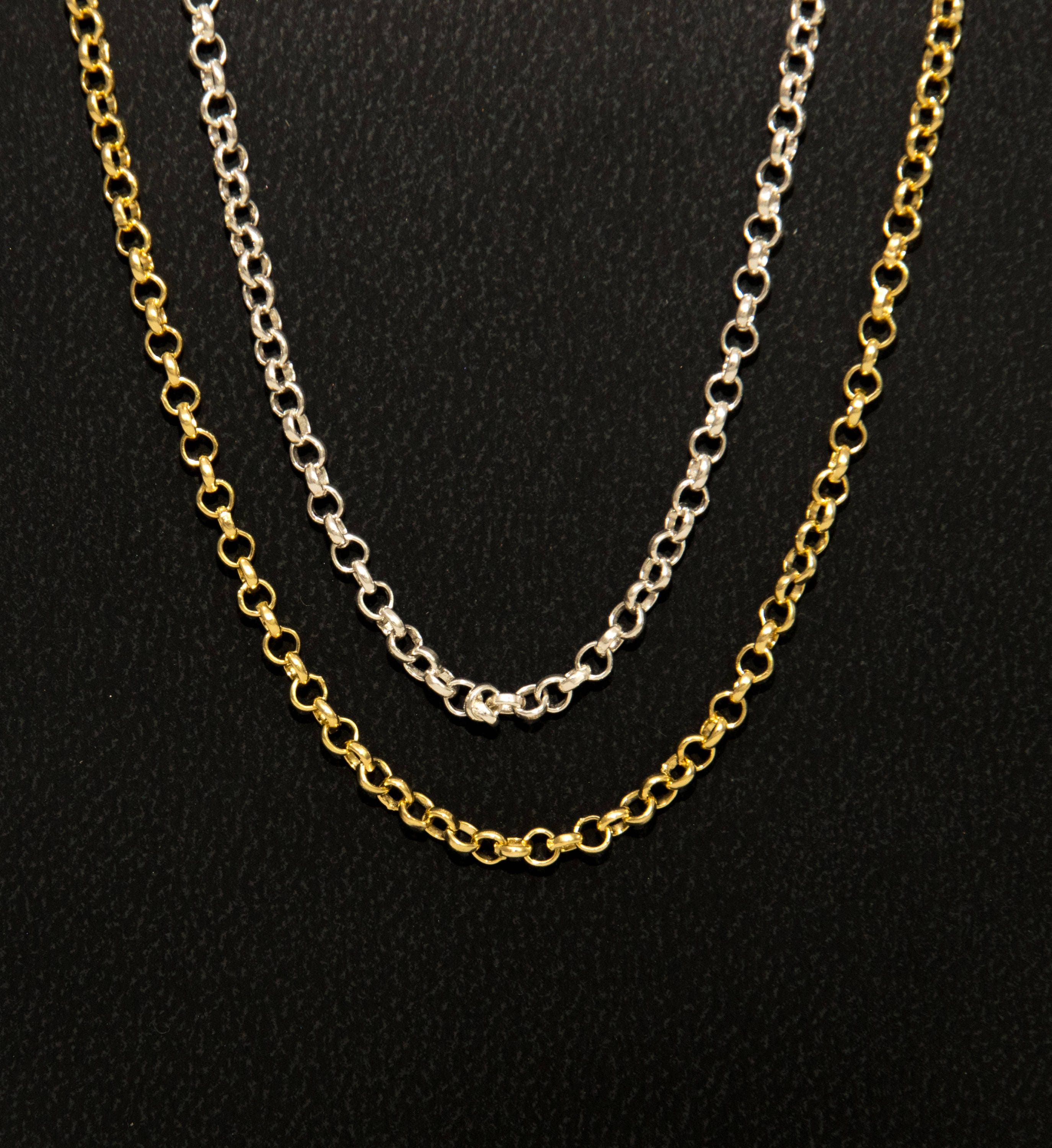 18k Solid Gold Chain, 18k Gold Rolo Chain, Round link chain, chain ...
