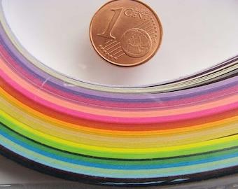 160 bandes de papiers 5mmx38cm Quilling paperolles 20 Couleurs MIX6