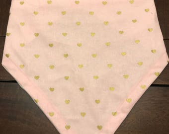 Xtra large pink and gold hearts