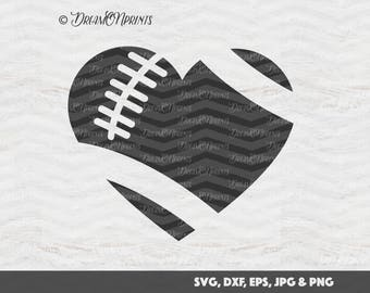 Football SVG, Football Heart Cut Files, Sports SVG, Fall Autumn for Cricut, Silhouette, Brother Cutting Machines SVDP129