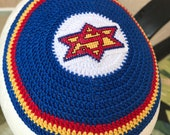 Kippah Super Jew Superman supernatural inspired kippah yarmulke