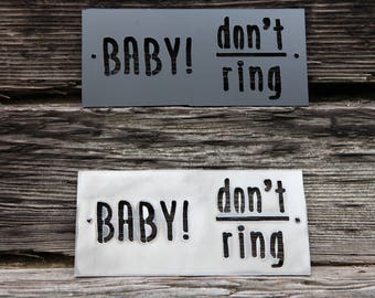Baby Sleeping Doorbell Sign