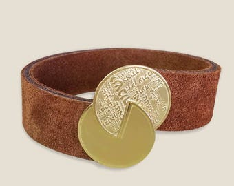 Shir Lama alotBracele, Leather bracelet, Hebrew bracelet, Protection talisman, Israel design, Jewish gifts, Song jewelry,  Hebrew art