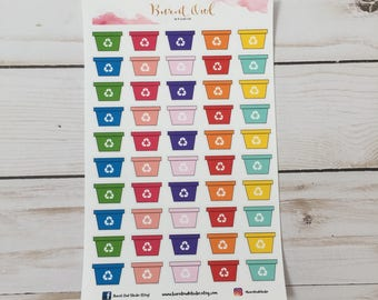 Recycle Bin Planner Stickers