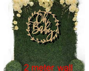 "Large Wooden ""Oh Baby""  Baby shower  wreath for floral wall  50 cm or 80 cm BIG Aust MADE"