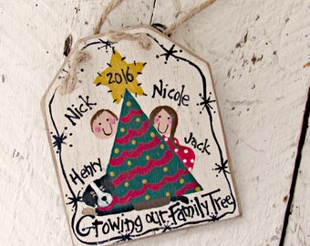 Expecting Baby Ornament, Expecting Christmas Ornament, Personalized Pregnancy Ornament, Expectant Family Ornament,  Expecting Parents Gift