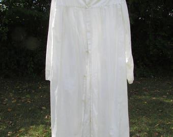 Vintage Oddfellows Lodge Robe Costume White Cotton