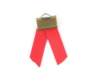 x2m (52 (A) 5mm Red satin ribbon